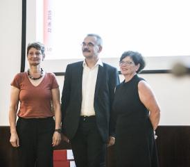 Les trois candidats du PS (photo: Régine Gapany)